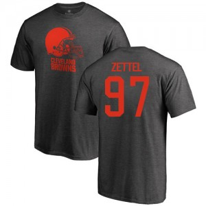 Anthony Zettel Ash One Color - #97 Football Cleveland Browns T-Shirt