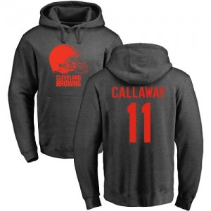 Antonio Callaway Ash One Color - #11 Football Cleveland Browns Pullover Hoodie