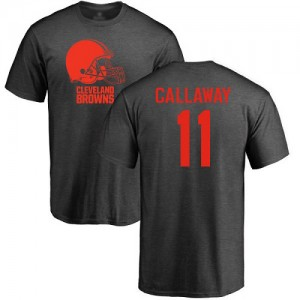 Antonio Callaway Ash One Color - #11 Football Cleveland Browns T-Shirt