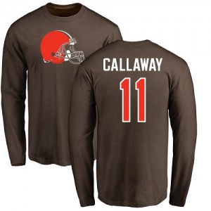 Antonio Callaway Brown Name & Number Logo - #11 Football Cleveland Browns Long Sleeve T-Shirt