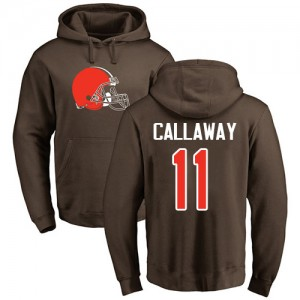Antonio Callaway Brown Name & Number Logo - #11 Football Cleveland Browns Pullover Hoodie