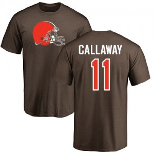 Antonio Callaway Brown Name & Number Logo - #11 Football Cleveland Browns T-Shirt