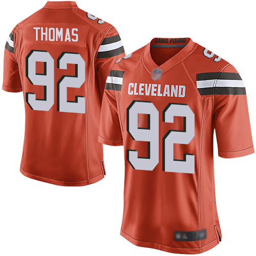 Game Men's Chad Thomas Orange Alternate Jersey - #92 Football Cleveland Browns