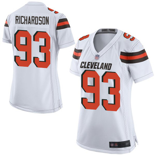Game Women's Sheldon Richardson White Road Jersey - #98 Football Cleveland Browns
