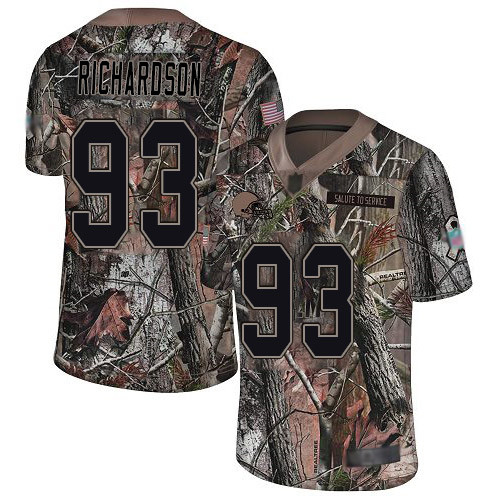 Limited Men's Sheldon Richardson Camo Jersey - #98 Football Cleveland Browns Rush Realtree